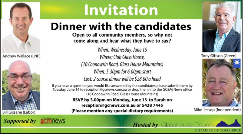 dinner with the candidates